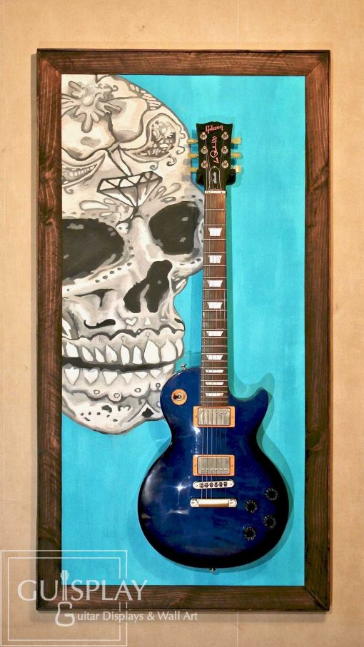 Guitar Display Guitar Wall Hanger Showcase Guitare Cabinet Mexican Skull Guitar Hanger Stand 10(watermarked)Mexican Skull Guitar Hanger Stand 10(watermarked)