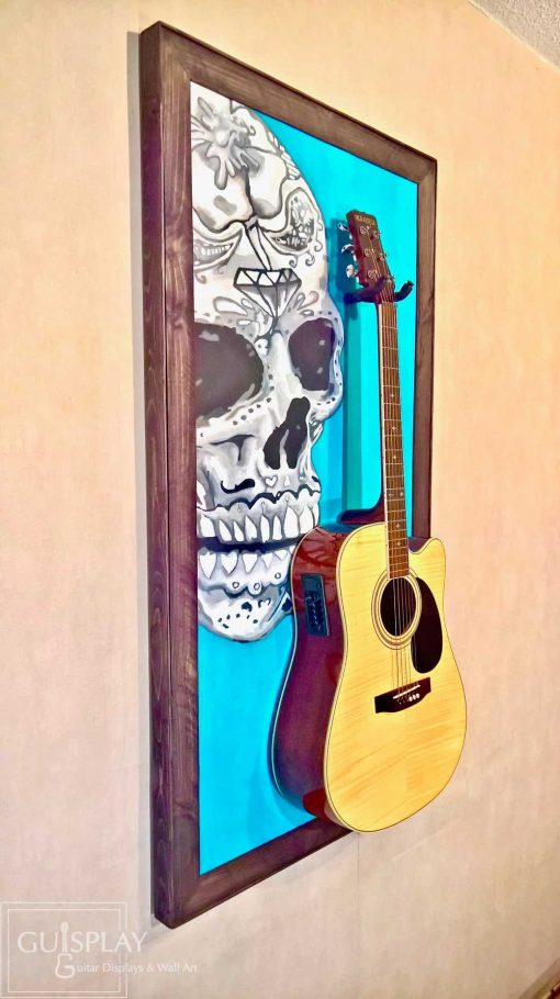 Mexican Skull Guitar Hanger Stand 14(watermarked)