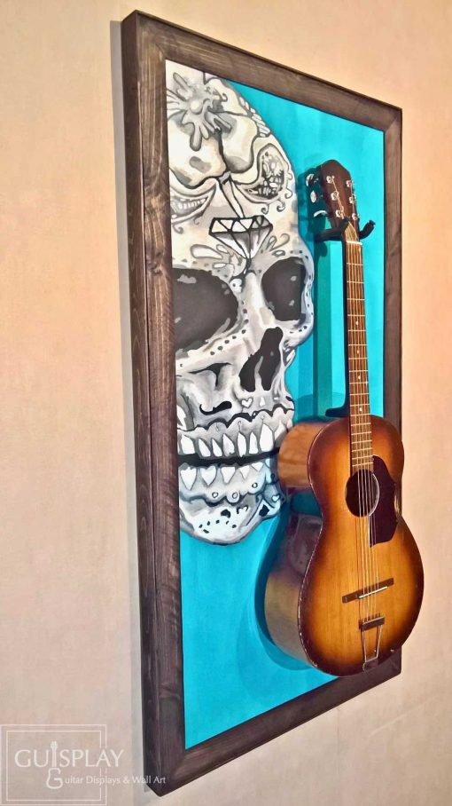 Mexican Skull Guitar Hanger Stand 19(watermarked)