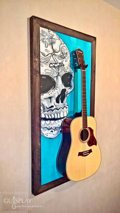 Mexican Skull Guitar Hanger Stand 21(watermarked)