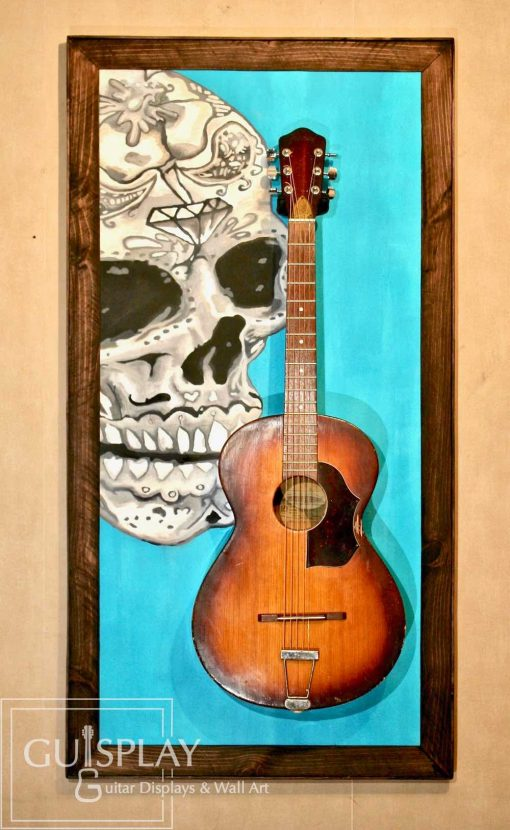 Mexican Skull Guitar Hanger Stand 5(watermarked)