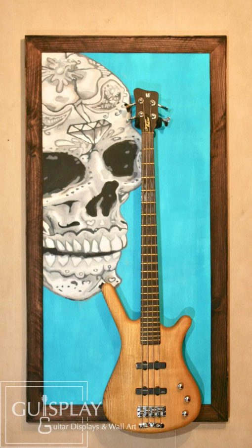 Mexican Skull Guitar Hanger Stand 7(watermarked)