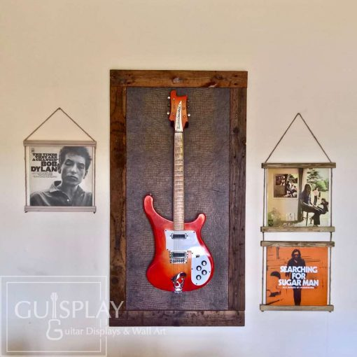Guisplay Snake Support Guitar Display and Wall Art Framed Creation18(watermarked)