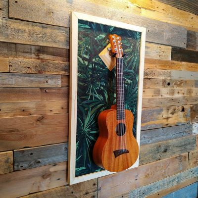 Ukulele display wall hanger by guisplay guitar display cabinet case showcase
