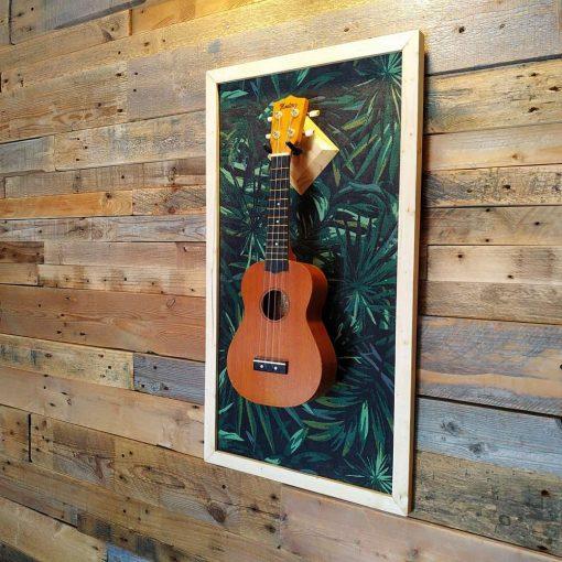 Ukulele display wall hanger by guisplay guitar display cabinet case showcase