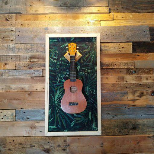 Ukulele display wall hanger by guisplay guitar display cabinet case showcase v